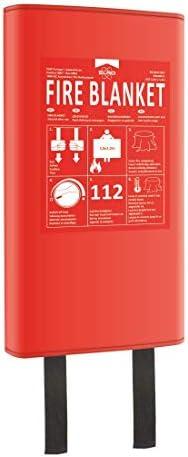 [Gesponsert]ELRO FB1800 Brandschutzdecke Feuerlöschdecke 1, 8M x 1, 2M-Kunststoffbox-auch für Personen geeignet-nach DIN EN 1869, Red, 1,8m x 1,2 m