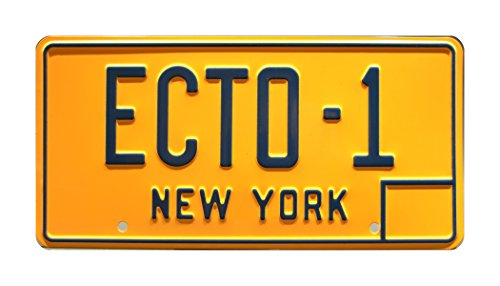 Ghostbusters | '59 Cadillac Hearse | ECTO-1 | Metal Stamped Vanity Prop License Plate