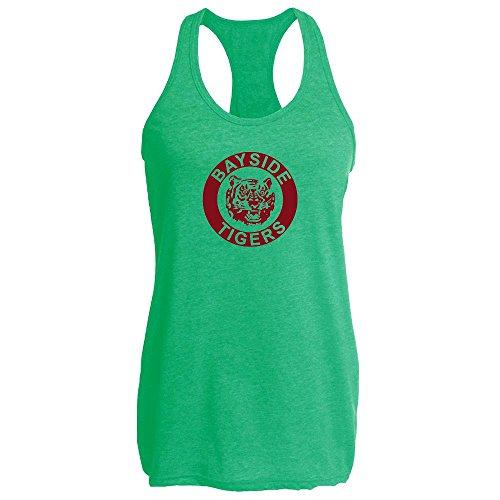Pop Threads Bayside High School Tigers Heather Kelly 2XL Womens Tank (Jessie Spano Costume)