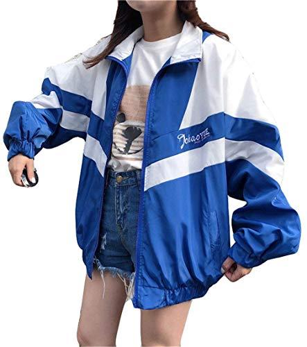Manica Primaverile Moda Leggero Estivi Donna Giacche Casual Digitale Ragazza Lunga Fashion Cappotto Autunno Relaxed Sportivo Colori Camicetta Giubbino Reue Giovane Jacket Pattern Misti 5qX4wKAw