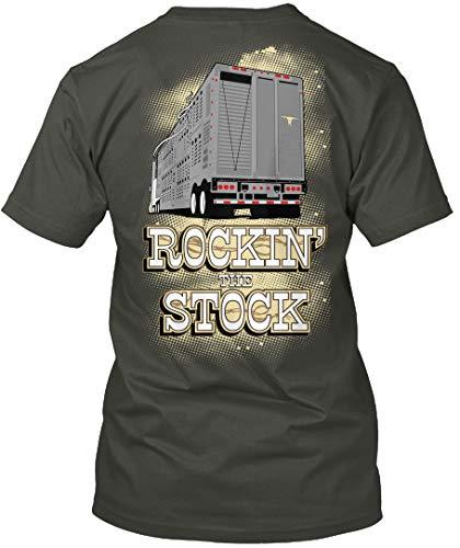 (Rockin The Stock L - Smoke Gray Tshirt - Hanes Tagless Tee)