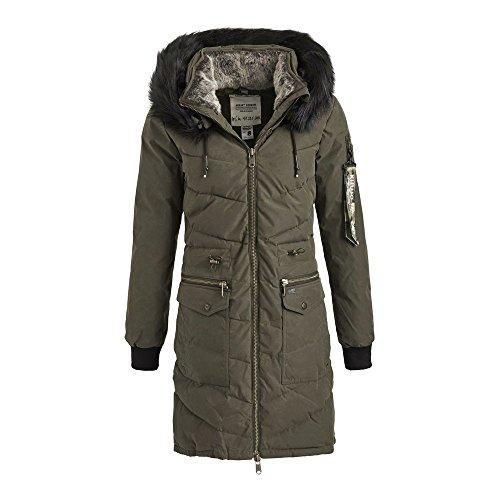 Puffer Light Olive Military Women's Khujo Luana Jacket XvR6w0w