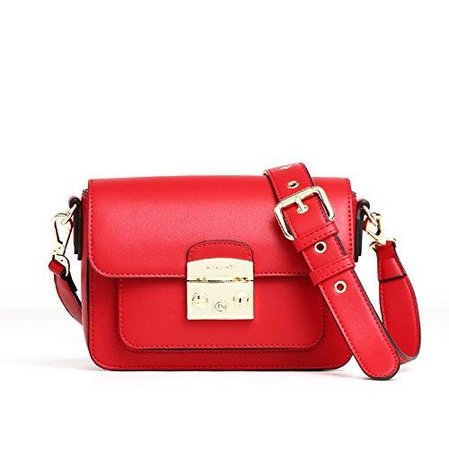 GUANGMING77 WomenS Tasche Mit Kleinen Breitband Pakete Mit Einzelnen Schulter Umschlungen Schultertasche gules ryVXC5t2