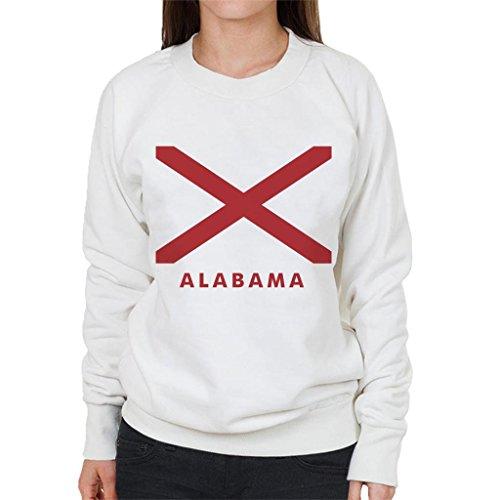 Flag Flag Flag White Sweatshirt Sweatshirt Sweatshirt Women's Coto7 Alabama State zUqOw1qvS