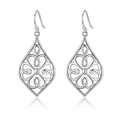 Highly Polished Sterling Silver Filigree - Shamrock Four Leaf Clover Shopping Results
