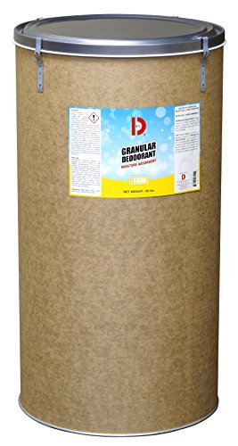 Big D 3151 Granular Deodorant Moisture Absorbent, Lemon Fragrance, 100 lb Container - Absorbs accidental spills for easy clean-up - Ideal for use in garbage dumpsters, trash cans, kennels