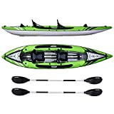 Driftsun Almanor 130 Two Person Inflatable Recreational Touring Kayak with EVA Padded Seats with High Back Support, Includes Paddles, Pump, Travel Bag