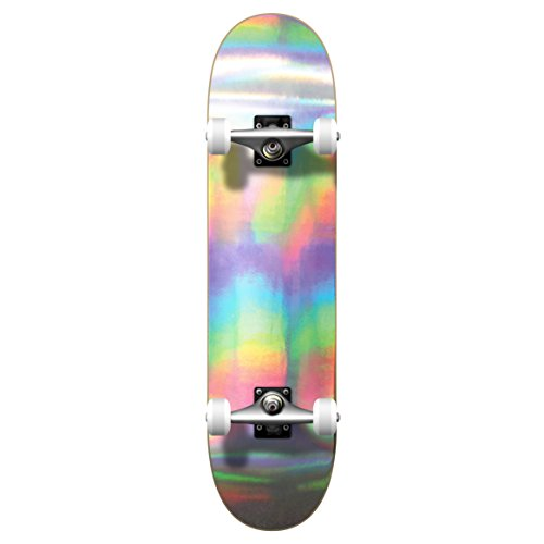 Yocaher Pro Complete Standard Skateboard & Mini Cruiser - Holographic -Assembled Boards and Decks only (Complete - 7.75
