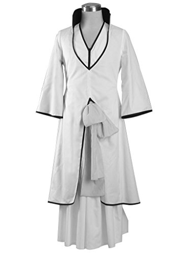 Mtxc Men's Bleach Cosplay Costume Ichimaru Gin Arranca 2nd Size X-Large White