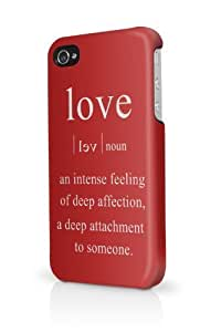 Love Quote iPhone 4 Case Fits iPhone 4 & iPhone 4S Full Print Plastic Snap On Case