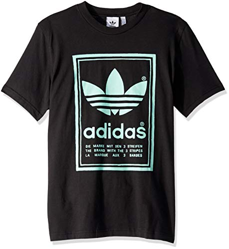 - adidas Originals Men's Vintage Tee, Black/Bluebird, Medium