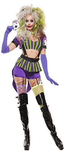 Starline Women's Mad Gambler Sexy 5 Piece Costume Set, Purple/Green, Small (Halloween Costumes Movie Characters Female)