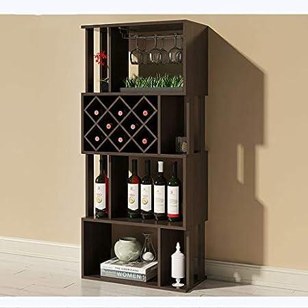 LXJYMX Estante de la Copa de Vino Vinoteca Vitrina Vitrina de la Sala de Estar del gabinete de la partición del hogar Marco Decorativo Creativo Portavasos (Color : C)
