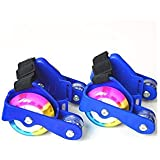 Flashing Roller Skate Shoes With Hot Wheel Sports Roller Blue YD-2