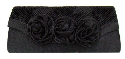 DIVA-MODE - Bolso pequeño al hombro de material sintético para mujer negro negro