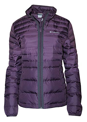 Purple Puffer - Columbia Women's Lightweight McKay Lake Down Full Zip Puffer Jacket (Dusty Purple, L)