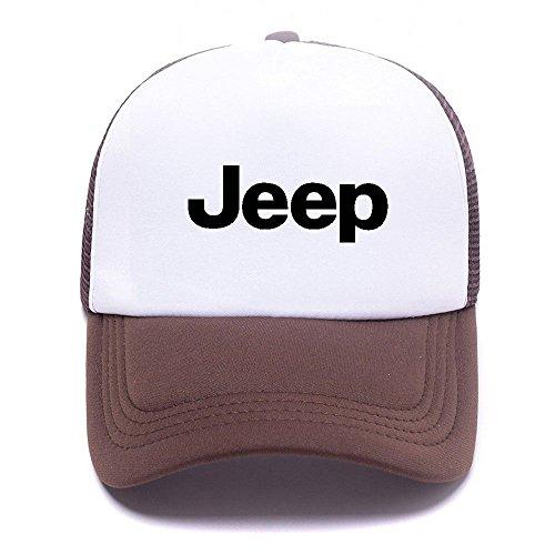 Jep Car Logo VGVHNO Trucker Hat Baseball Caps Gorras de Béisbol for Men Women Boy Girl Brown