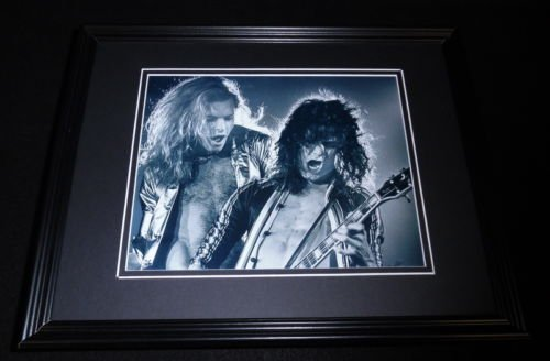Eddie Van Halen & David Lee Roth Framed 8x10 Photo Poster by The Steel City Auctions Gallery