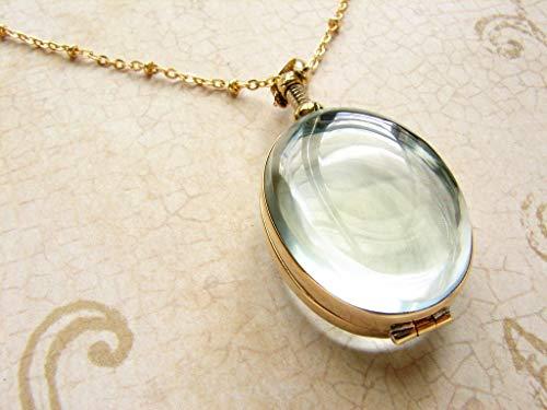 Heirloom Locket - Oval beveled glass locket necklace, heirloom glass locket, beveled glass locket necklace, bridal necklace, gift for bride