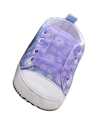 Voberry Baby Girls Toddler Lace up Sneaker Anti-Slip Boots Crib Shoes (12~18 Month, Purple.2)