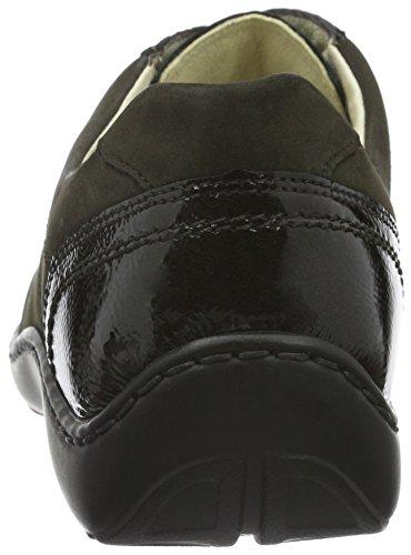 WaldläuferHenni - Zapatos Derby Mujer Multicolor - Mehrfarbig (Denver Steel-Boa schiefer Taipei moro moro)