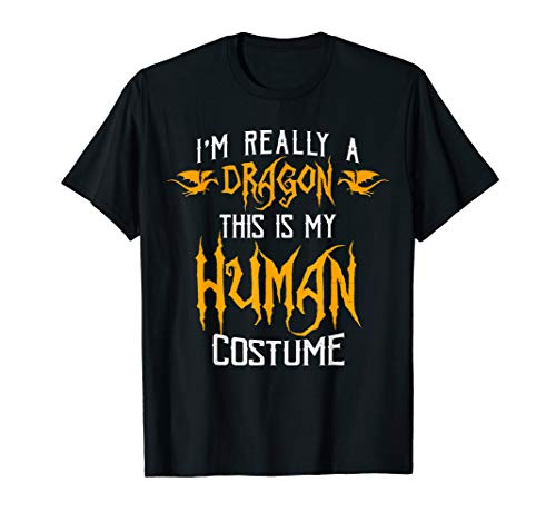 I'm Really a Dragon Costume Halloween Gift Funny T Shirt ()