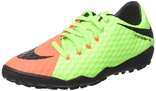 NIKE Mens Hypervenomx Phelon III Turf Shoes [Electric Green] (9.5)
