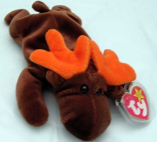 1993 Chocolate Rare Moose Beanie Baby by Ty