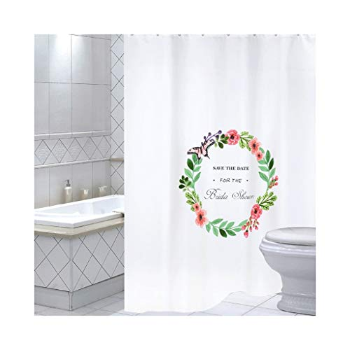 LQQ Mold Mildew Shower Curtain- Fresh Art Bathroom Shower Curtain, Waterproof Thickened Mildew Bathroom Curtain, partition Curtain, Bathroom Shower Curtain Fabric. -Cartoon Bathroom Curtain by LQQ (Image #4)