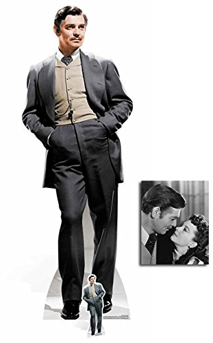 Fan Pack - Rhett Butler (Clark Gable) Gone With the Wind Lifesize and Mini Cardboard Cutout / Standee / Standup - Includes 8x10 Star (Cardboard Cutout Head)