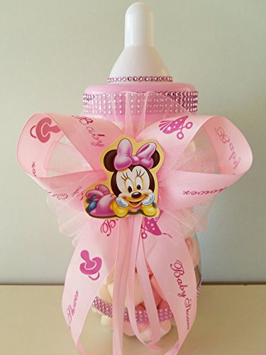 Minnie Mouse Centerpiece Bottle Large 14'' Baby Shower Piggy Bank Girl Decoration by Product789