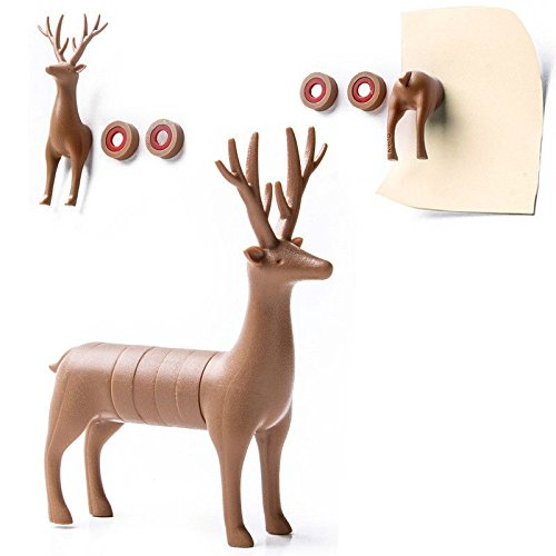 Amazing Magnets My Deer by Qualy Design Studio. Brown Color. Cool set go 6 Magnets for Office and House. Can be used on Whiteboards, Magnetic Boards, Refrigerators and other Magnetic - Nevada Shopping Reno In