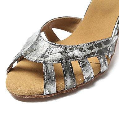 Tacón Plata Personalizables Jazz Stiletto de baile Latino No Gold Zapatos Oro wA48xqq1