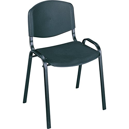 - Mayline Safco Stack Chairs - Set of 4, Black, Model# 4185BL