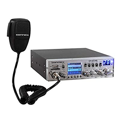 Connex CX-33TLM3 AM/FM 10 Meter Mobile Radio with TFT Display: Home Audio & Theater