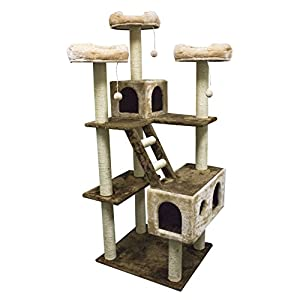 "Kitty Mansions 73"" Beverly Hills Cat Tree"