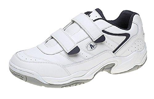 Ascot, Herren Sneaker Bianco, Blu Scuro, Blu