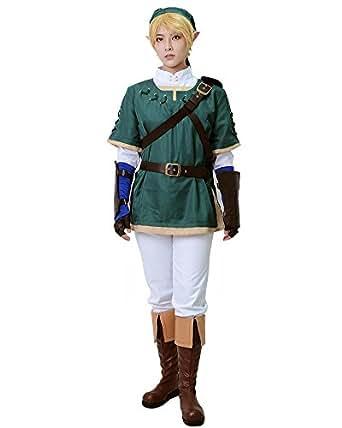 Miccostumes Men's the Legend of Zelda Link Cosplay Costume (XS)
