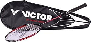 VICTOR Badmintonschläger V-4000 Wave Tech, Rot, 68 cm, 118/0/1