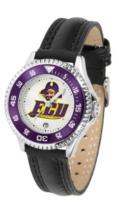 (SunTime East Carolina Pirates Competitor Ladies Watch with Leather Band)