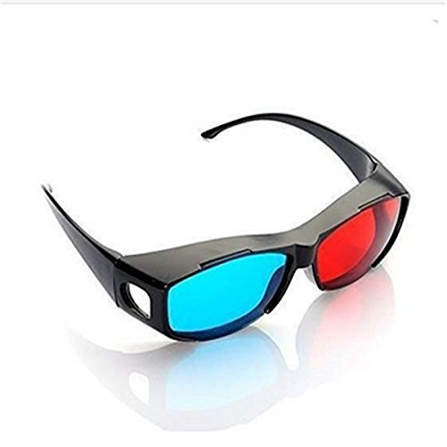 Asien Red-blue Cyan 3D Glasses for 3D movie game Fit Over Prescription Glasses