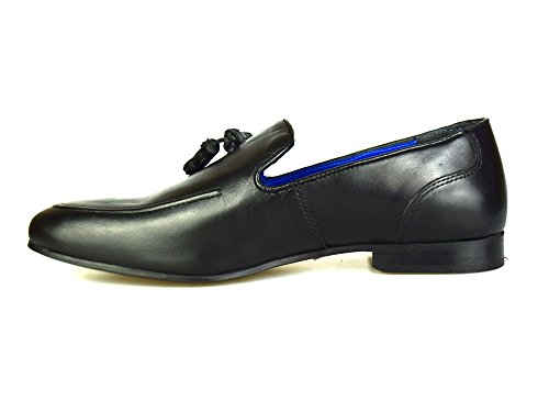 Red Tape Ampthill Black Leather Mens Tasseled Loafers Casual Shoes tdxDOH