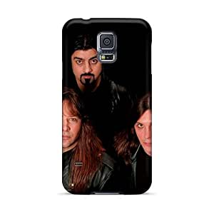 TammyCullen Samsung Galaxy S5 Shock Absorption Hard Phone Case Allow Personal Design Realistic Manowar Band Image [KVc6773dUef]