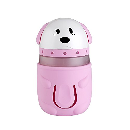 Fly Array USB Humidifier Dog Shape Humidifier Night Light for Students Dormitory Home Room Office Desktop Silent Car Humidifier Creative Gifts (pink brown yellow blue) Pink by Fly Array (Image #7)