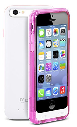 iPhone SE / 5S / 5 Battery Case, Aduro PowerUp MFI slender Rechargeable Fuel Jacket strength Bank event for Apple iPhone SE / 5S / 5, 2400 mAh Capacity & 40+ Hrs Added (Pink)