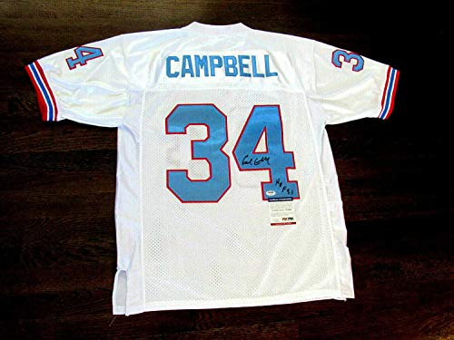 Ness Houston Oilers - Earl Campbell 91 Hof Houston Oilers Autographed Signed Memorabilia 1980 Mitchell & Ness Jersey - PSA/DNA Authentic