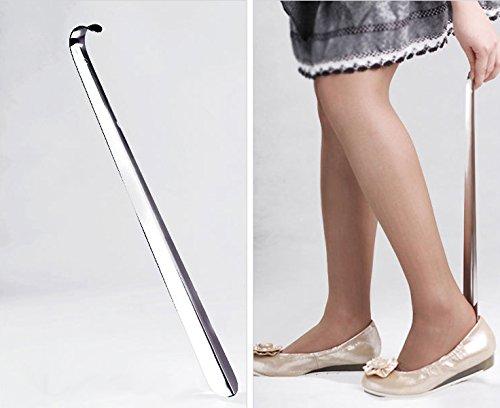 42cm Chausse-pied en métal avec manche long shoe horn inoxydable professionnel Groupcow
