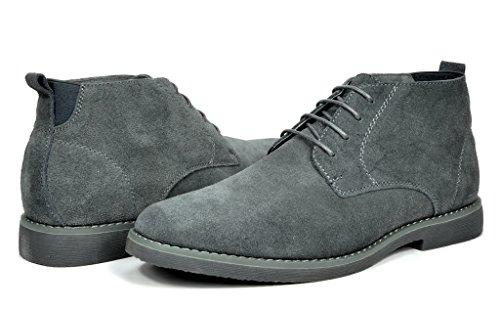 Image of BRUNO MARC NEW YORK Men's Classic Original Suede Leather Desert Storm Chukka Boots