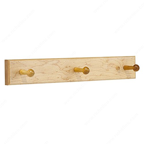 Maple Classic Board - Classic Hook Rack - 3203, Board Finish Maple, Finish Maple, Height - Overall Dimensions 63.5 mm, Width - Overall Dimensions 400 mm