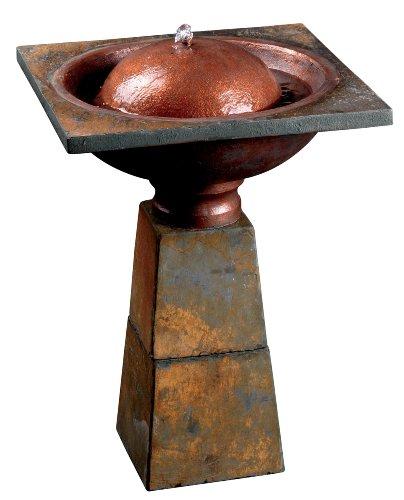 Kenroy Home 50021SL Cauldron Birthbath Fountain, Slate Finish by Kenroy Home